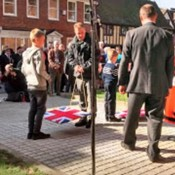 The unveiling ceremony of First World War VC paving slabs
